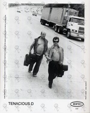 """TENACIOUS D - 'Side Of Road' Black And White 8"""" x 10"""" Photograph - 1"""