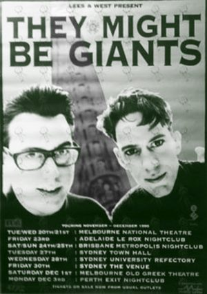 THEY MIGHT BE GIANTS - 1990 Australian Tour Poster - 1