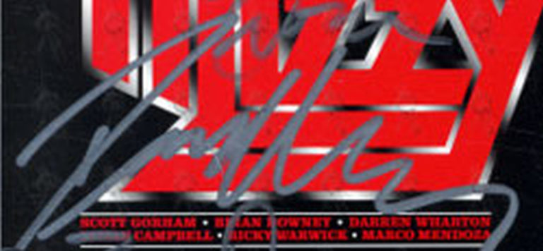 THIN LIZZY - January 2011 Fully Signed UK Tour Flyer - 4