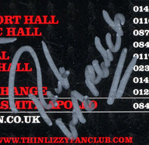 THIN LIZZY - January 2011 Fully Signed UK Tour Flyer - 7