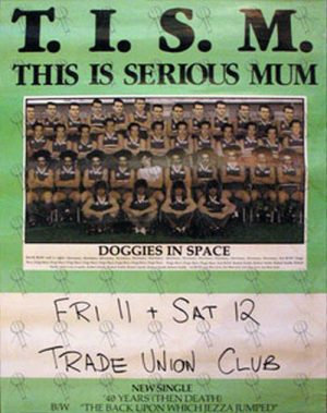 TISM - '40 Years Then Death' Single/Gig Poster - 1