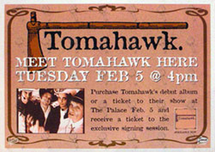 TOMAHAWK - Record Store Counter Display - 1