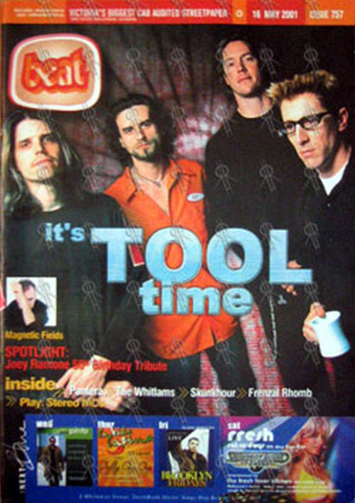 TOOL - 'Beat' Magazine - 16th May 2001 - Tool On Cover - 1