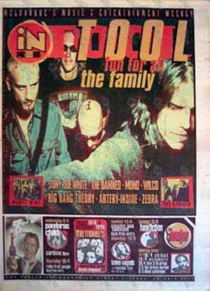 TOOL - 'Inpress' Magazine - Issue 450 9th April 1997 - Tool On The Cover - 1
