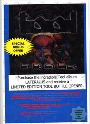 TOOL - 'Lateralus' Laminated Flyer - 1
