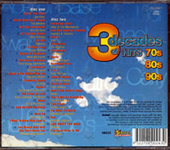VARIOUS ARTISTS - 3 Decades Of Hits 70s 80s 90s - 2