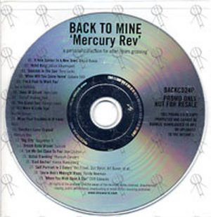 VARIOUS ARTISTS - Back To Mine - 1