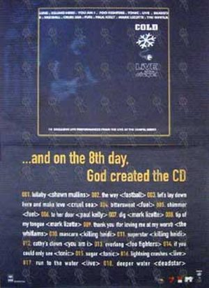 VARIOUS ARTISTS - 'Cold Live At The Chapel' Album Poster - 1