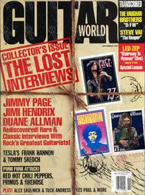 VARIOUS ARTISTS - 'Guitar World' - Nov 1991 - Collector's Issue: Lost Interviews - 1