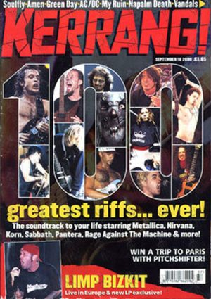 VARIOUS ARTISTS - 'Kerrang!' - 16th September 2000 - '100 Greatest Riffs Ever' Special - 1