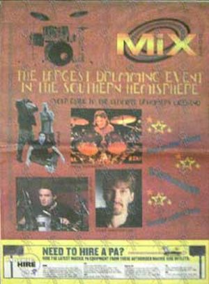 VARIOUS ARTISTS - 'Mixdown' - May 2001 - Ultimate Drummers Weekend Special - 1