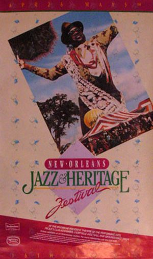 VARIOUS ARTISTS - New Orleans Jazz & Heritage Festival Promo Poster - 1