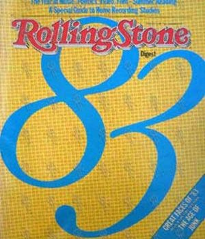VARIOUS ARTISTS - 'Rolling Stone' - 1983 Yearbook Issue - 1