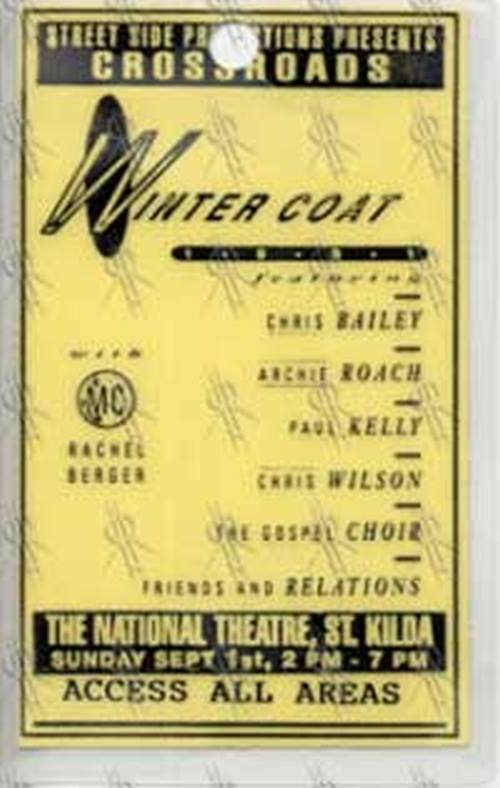 VARIOUS ARTISTS - 'Wintercoat' 1991 Festival Access All Areas Laminate - 1