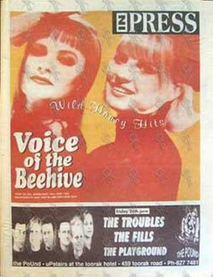 VOICE OF THE BEEHIVE - 'Inpress' - 24th June 1992 - Voice Of The Beehive On Cover - 1