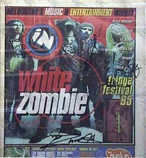 WHITE ZOMBIE - 'Inpress' - 27th Sep 1995 - White Zombie On Cover - 1