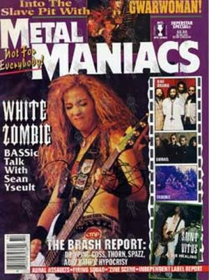 WHITE ZOMBIE - 'Metal Maniacs' - Oct 1995 - Sean on the cover - 1