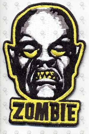 WHITE ZOMBIE - 'Zombie' Design Embroidered Patch - 1