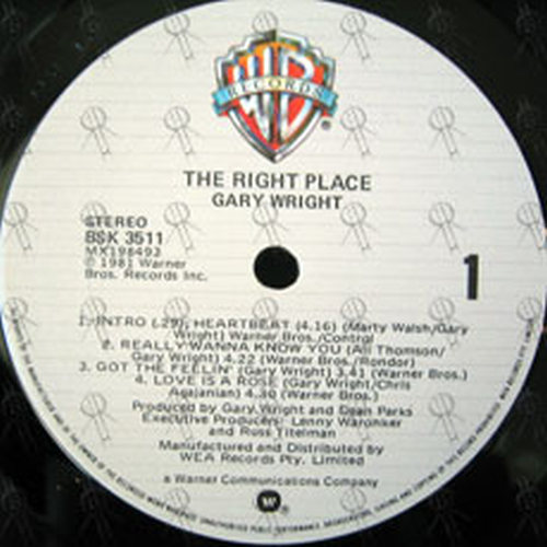 WRIGHT-- GARY - The Right Place - 3