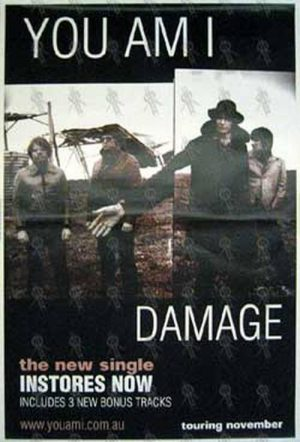 YOU AM I - 'Damage' Single Poster - 1