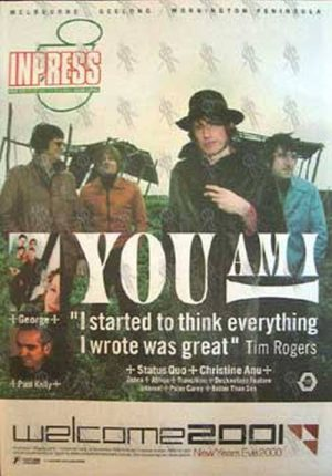 YOU AM I - 'Inpress' - 8th November 2000 - You Am I On Cover - 1
