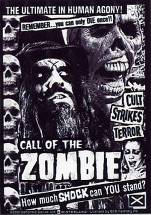 ZOMBIE-- ROB - 'Call Of The Zombie' Sticker - 1